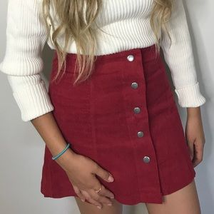High waisted Red skirt
